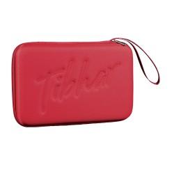 TIBHAR COVER GRID SQUARE 硬盒乒乓球板套 紅色